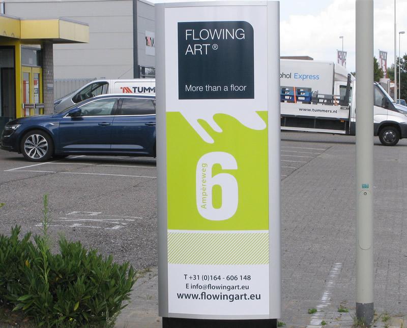 De showroom van Flowing Art is gevestigd in Hoogerheide
