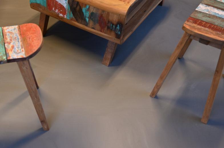 Polyurethaan (PU) gietvloer van Flowing Art in kantoorruimte