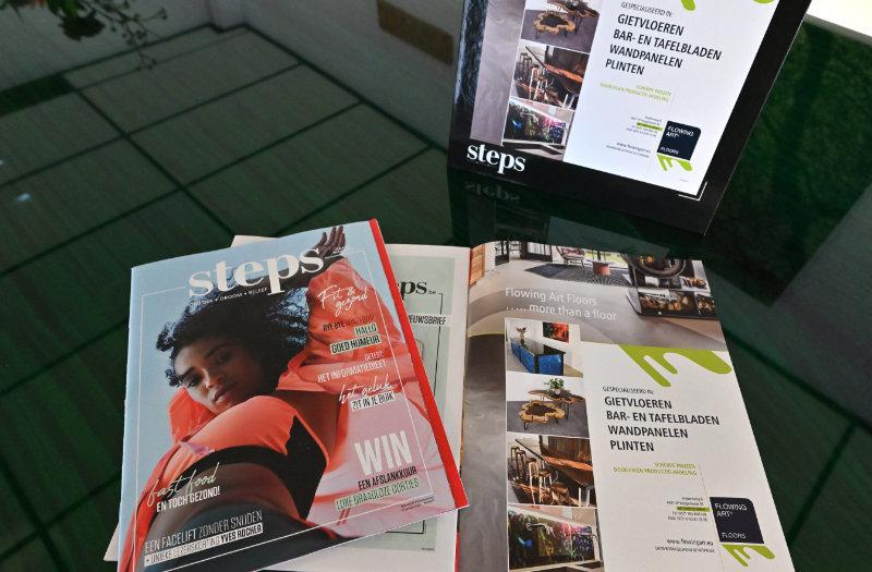 Flowing Art in het Belgische magazine Steps